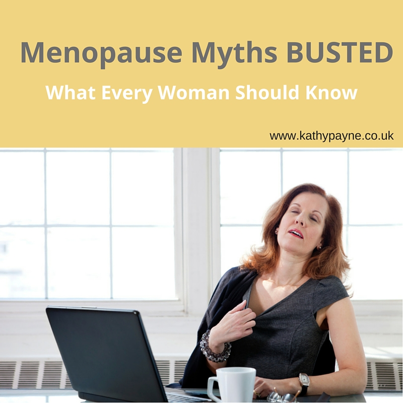 Menopause Myths BUSTED for Blog title